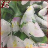 Tissu en soie pur estampé par fleur 16mm d'échine de Crepe De de vente chaude