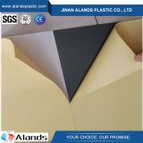 лист PVC белизны 1mm черный с прилипателем для фотоальбома