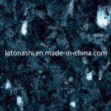 Coutertopのための自然で青い真珠の石のタイルの花こう岩、平板、Backsplash