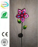 Blumen-Form-Metalldekoration-Fertigkeit mit hellem Solargarten