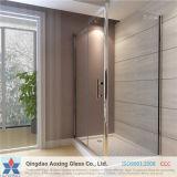 Vidro temperado / temperado claro para vidro de banho com certificação