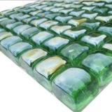 Декоративная мозаика зеленого стекла