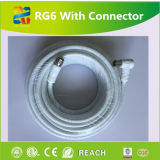 Câble coaxial coaxial de liaison du câble RG6 de prix usine de qualité