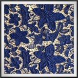 Laço do poliéster do laço do bordado do laço da guipura da flor