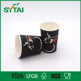Taza de café de papel de un sólo recinto modificada para requisitos particulares venta al por mayor de Orrugated con la tapa