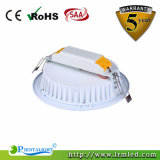 Lámpara de plata blanca 15W LED Downlight del techo de Shouing del shell de Dimmable