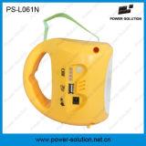 De la potencia pequeña LED linterna que acampa de la solución 4500mAh 6V con el cargador del teléfono