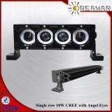 barre simple d'éclairage LED de rangée de CREE de 17inch 80W avec des yeux d'ange