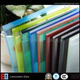 Freies milchiges blaues/graues rote/gelbe Farben-lamelliertes Glas