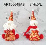 Gancio del Doorknob del pupazzo di neve della Santa di natale, decorazione di Asst-Natale 3
