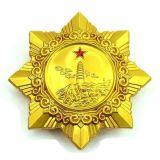 Logotipo personalizado Estrela Gold Design Souvenir Metal Badge