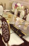 Стул венчания дешевой нержавеющей стали золота белой кожи Stackable арендный (YC-ZS51)
