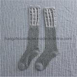 Einfache Form-klare Jacquardwebstuhl-Stapel-Wolle-Socken