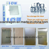 Escaninho de armazenamento ensacado ao ar livre popular do especialista das técnicas mercantís do gelo/gelo