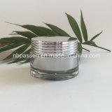 vaso crema acrilico d'argento di lusso 30g per l'imballaggio di Skincare (PPC-NEW-133)