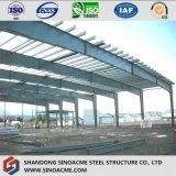Construction d'atelier de structure métallique avec la grande envergure