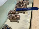 3PC 1000wog Three-Piece Kolben-Schweißungbw-Edelstahl-Kugelventil mit direkter Auflage der Montage-ISO5211