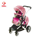 De Wandelwagen van de baby met de Regelmatige Zetel van de Bekendheid en van de Doopvont en Achter Regelmatige VoorCarrycot van de Zetel en en Rug draagt Wieg