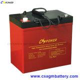 Akumulator 12V 55ah, bateria de armazenamento da potência do gel para Glofcart