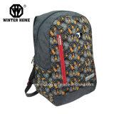 Sac occasionnel de sac à dos d'école de tissu de fleur d'impression de Tranfer