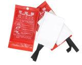 1m x 1m Feuer-Flamme Retardent Sicherheits-Schild-Fiberglas-Feuer-Zudecke mit Tüllen