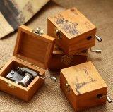 Cadeau promotionnel en bois personnalisé de boîte à musique de logo