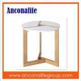 Table basse ronde de créateur neuf d'Anconalife petite avec le bambou