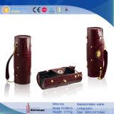 Zylinder-lederne PappeRocodile gekörnter einzelner Wein-Kasten (5728R18)