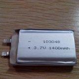 Batería 103048 de /3.7V Li-Po de la batería de la batería 1400mAh Lipo del Li-Polímero