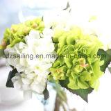 Flor artificial vendedora caliente del Hydrangea de 10 colores (SW07353)