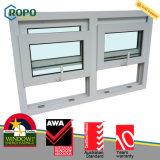 Окно застеклять UPVC самой последней конструкции двойное двойное повиснутое