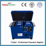 青いカラー5kVA防音の電気発電機の発電所