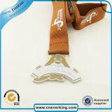 Medaglie su ordinazione del metallo della moneta di marchio di sport con la sagola