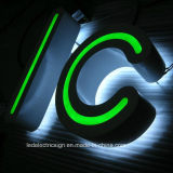 LED WaterproofエネルギーSaving Stainless Steel Luminous WordのためのLogo Custom LED Signを保存しなさい