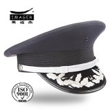 Подгонянный капитан военно-морского флота шлем с серебряной вышивкой