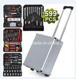 Шкаф инструмента комплекта инструмента ремонта автомобиля качества Тайвань конструкции 599 PCS Германия в алюминиевом случае