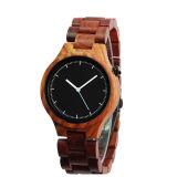Reloj masculino ocasional del cuarzo de los relojes de madera de los hombres