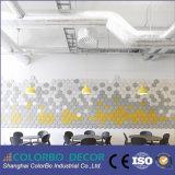 El panel material insonoro de las lanas de madera de la decoración de la pared interior de pasillo de reunión