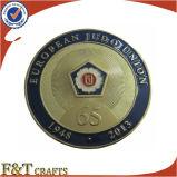 Выполненная на заказ новизна монетка коммеморативного Epoxy золота покрынная медная