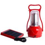 調節可能な明るさ携帯電話の充電器が付いている屋外の太陽手ランプ/ポータブル35 LEDsのキャンプのランタンの非常灯