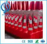 Fluorescente Laranja flexível Segurança Rodoviária PVC Cone de Trânsito