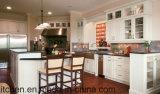 Самомоднейшая мебель кухни конструкции высоко лоснистая акриловая