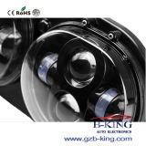 90W 3500lm Dual Headlamps Black Sliver voor Harley Motorcycle