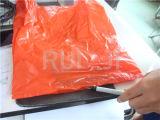 Automatische vier Zeile Plastikshirt-Beutel, der Maschine herstellt