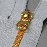 ジッパーの衣服のアクセサリのための見えないレースの樹脂の金属のナイロンジッパー