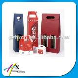 Boîte de empaquetage à vin de carton de cadeau magnétique rigide de luxe fait sur commande de fermeture