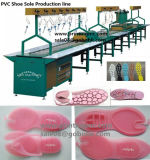 고용량 PVC 슬리퍼 기계 Produciton 선