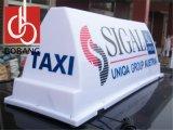 تاكسي علبيّة يعلن [لد] [ليغت بوإكس] أكريليكيّ