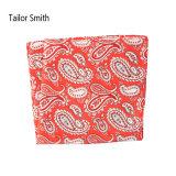 流行の赤い絹によって印刷されるペーズリーのハンカチーフのポケット正方形のハンカチ