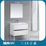 Vanità calda della stanza da bagno di stile dell'Europa di vendita con il Governo dello specchio (SW-1502)